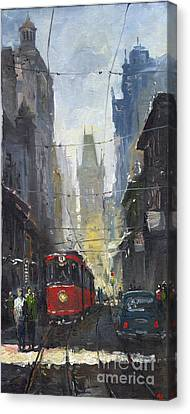 Prague Old Tram 05 Canvas Print by Yuriy  Shevchuk
