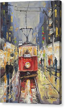 Czech Republic Canvas Print - Prague Old Tram 08 by Yuriy  Shevchuk