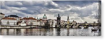 Prague Panorama Canvas Print by Heather Applegate