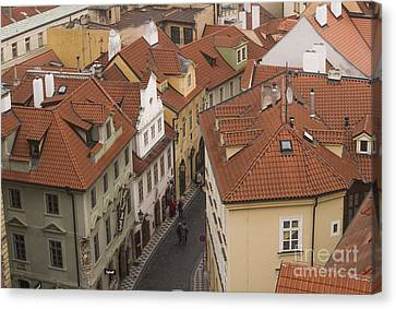 Prague Rooftops Canvas Print by Juli Scalzi