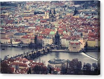 Prague Skyline Canvas Print by Piero Damiani