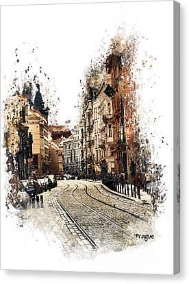 Prague Street Art Canvas Print by Justyna JBJart