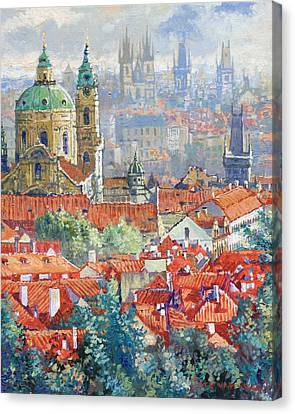 Prague Summer Panorama 1 Canvas Print by Yuriy Shevchuk
