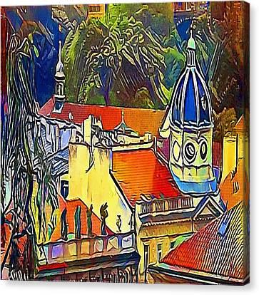 Prague Theater - My Www Vikinek-art.com Canvas Print