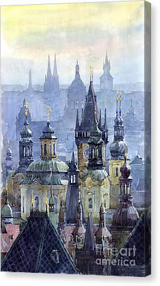 Prague Towers Canvas Print by Yuriy  Shevchuk