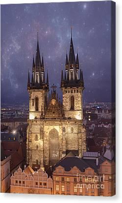 Prague.  Tyn Church Canvas Print by Juli Scalzi