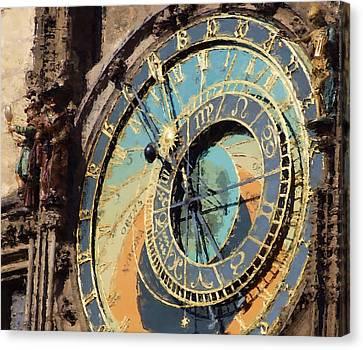 Praha Orloj Canvas Print by Shawn Wallwork