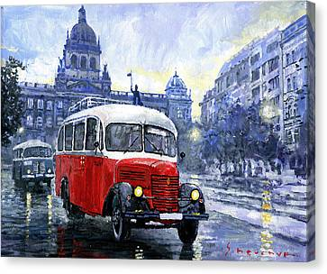Praha Rnd Bus 1950 Skoda 706 Ro Canvas Print by Yuriy Shevchuk