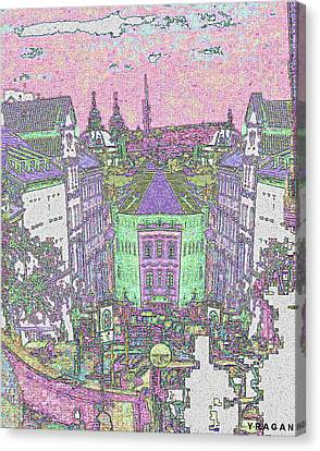 Canvas Print featuring the digital art Praha by Yury Bashkin