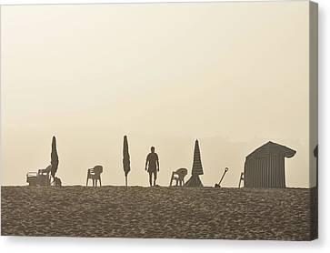 Praia Da Figueira Portugal Canvas Print