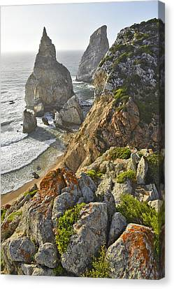 Canvas Print featuring the photograph Praia Da Ursa  by Marek Stepan