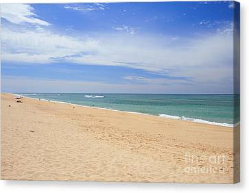 Praia De Faro Canvas Print by Carl Whitfield