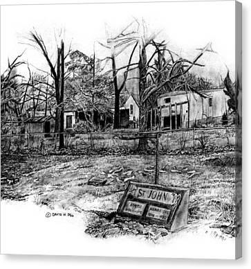 Indiana Winters Canvas Print - Prair. Cemetary  by David M Pigg