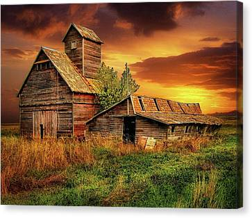 Prairie Barns Canvas Print