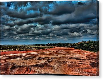 Prairie Dog Town Fork Red River Canvas Print by Diana Mary Sharpton