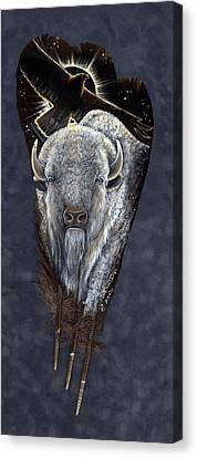 Prairie Eclipse Canvas Print by Sandra SanTara