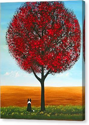 Shetland Sheepdog Canvas Print - Prairie Field by Todd Young