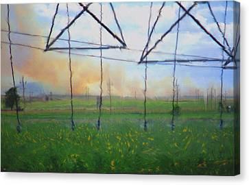 Prairie Fire Heat Canvas Print