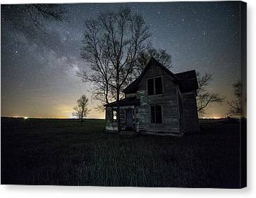 Canvas Print featuring the photograph Prairie Gold And Milky Way by Aaron J Groen