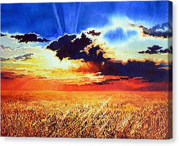 Prairie Gold Canvas Print by Hanne Lore Koehler