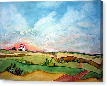 Prairie Grain Elevators Canvas Print