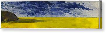 Prairie Grouper Panorama Canvas Print by Martin Tielli