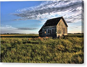 Prairie One Room School Canvas Print