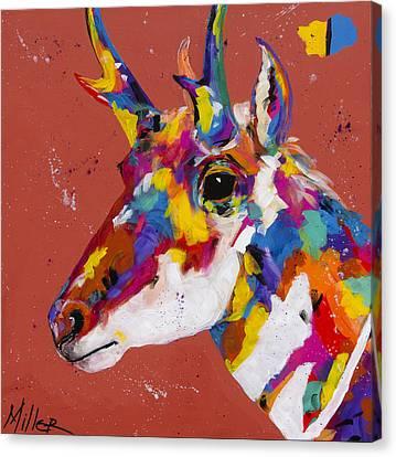Prairie Runner Canvas Print by Tracy Miller