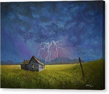 Prairie Storm Canvas Print by C Steele