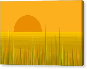 Prairie  Sundown Canvas Print