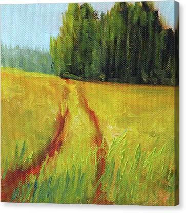 Canvas Print featuring the painting Prairie Trail by Nancy Merkle