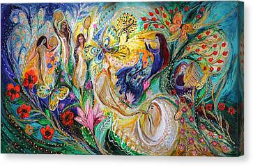 Praise Him With The Timbrel And Dance Canvas Print