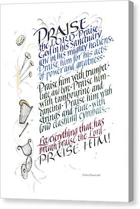 Praise The Lord Canvas Print by Judy Dodds