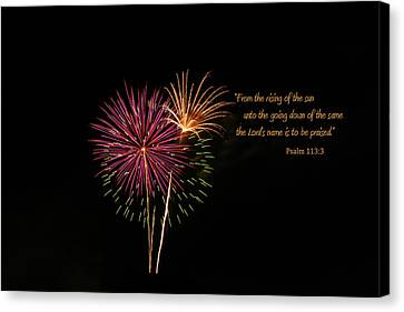 Canvas Print featuring the photograph Praise The Lord by Larry Bishop