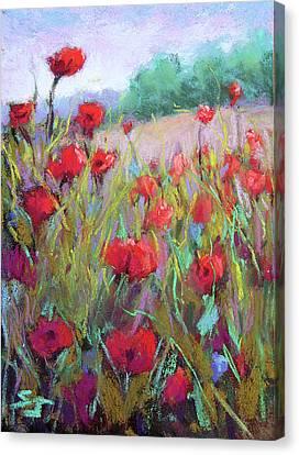 Praising Poppies Canvas Print by Susan Jenkins