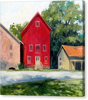 Prallsville Mill Summer Canvas Print by Kit Dalton