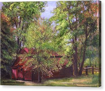 Prallsville Mills Stockton Nj Canvas Print by Aurelia Nieves-Callwood