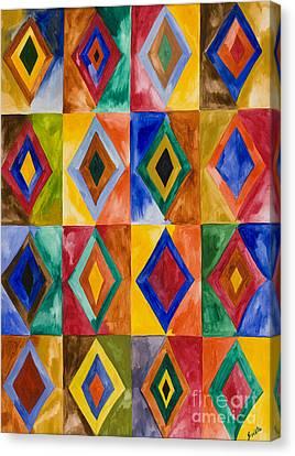 Prana Diamonds Canvas Print