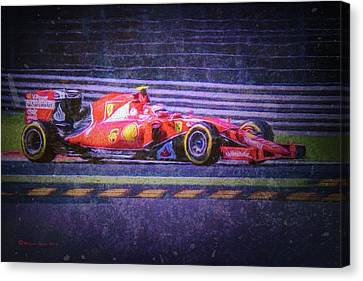 Prancing Horse Vettel Canvas Print by Marvin Spates