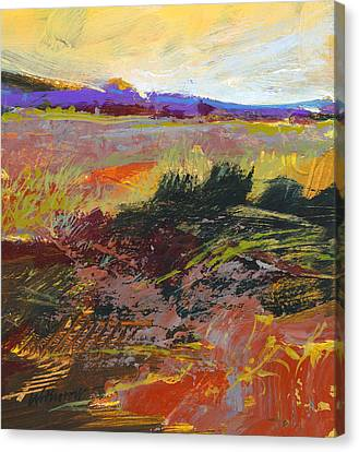 Prarie Sketch Canvas Print by Dale  Witherow