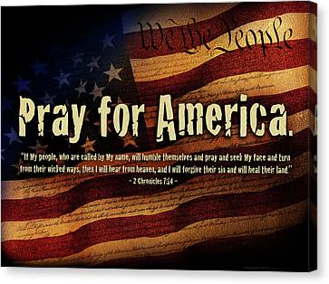 Pray For America Canvas Print by Shevon Johnson