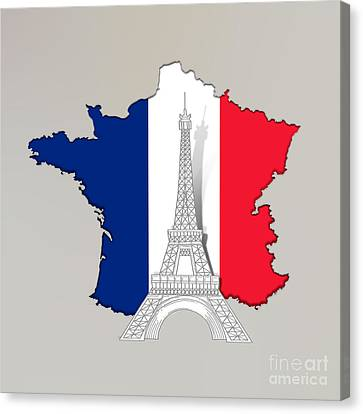 Pray For Paris Canvas Print by Bedros Awak