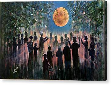 Canvas Print featuring the painting Pray For Peace by Laila Awad Jamaleldin