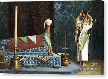 Prayer At The Sultan's Room  The Grief Of Akubar  Canvas Print by Jean Leon Gerome