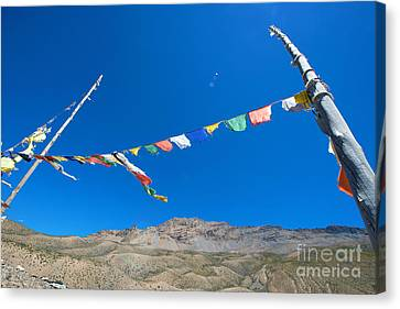 Canvas Print featuring the photograph Prayer Flag by Yew Kwang