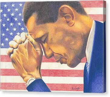 Prayerful President Canvas Print by Keith Burnette