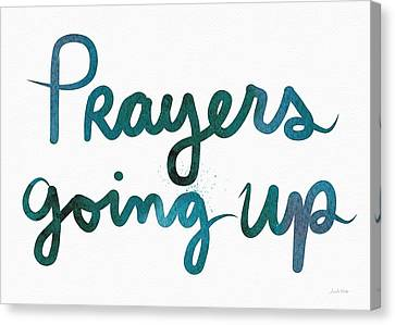 Prayers Going Up- Art By Linda Woods Canvas Print by Linda Woods
