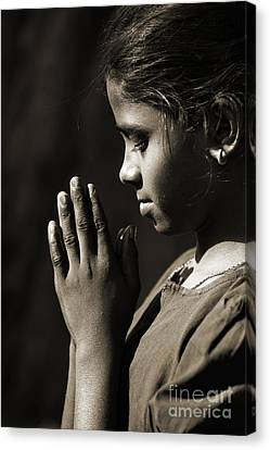 Prayers Of A Child Canvas Print by Tim Gainey