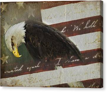 Praying For Our Country Canvas Print by Kathy Jennings