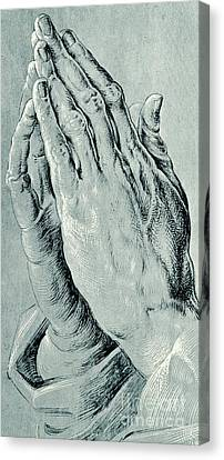 Praying Hands, Also Known As Study Of The Hands Of An Apostle  Canvas Print by Albrecht Durer